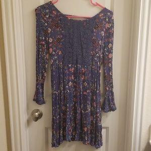 Crinkle fabric dress
